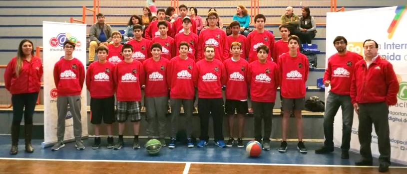 Obsequiamos implementación deportiva a club de básquetbol tomecino