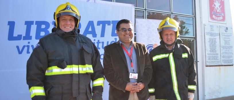 Conectamos a bomberos de Maule y Villa Alegre