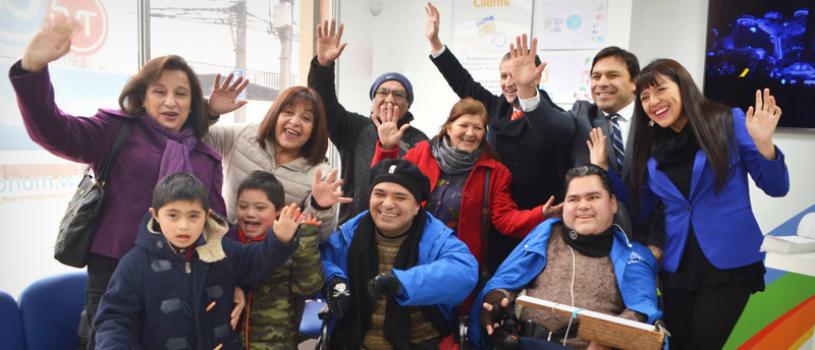Inauguramos oficina de Talca con entrega de beneficios gratuitos a dos centros de inclusión de la Región del Maule