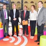 Junto a la Ministra Hutt, inauguramos WiFi gratuito en Metrotren